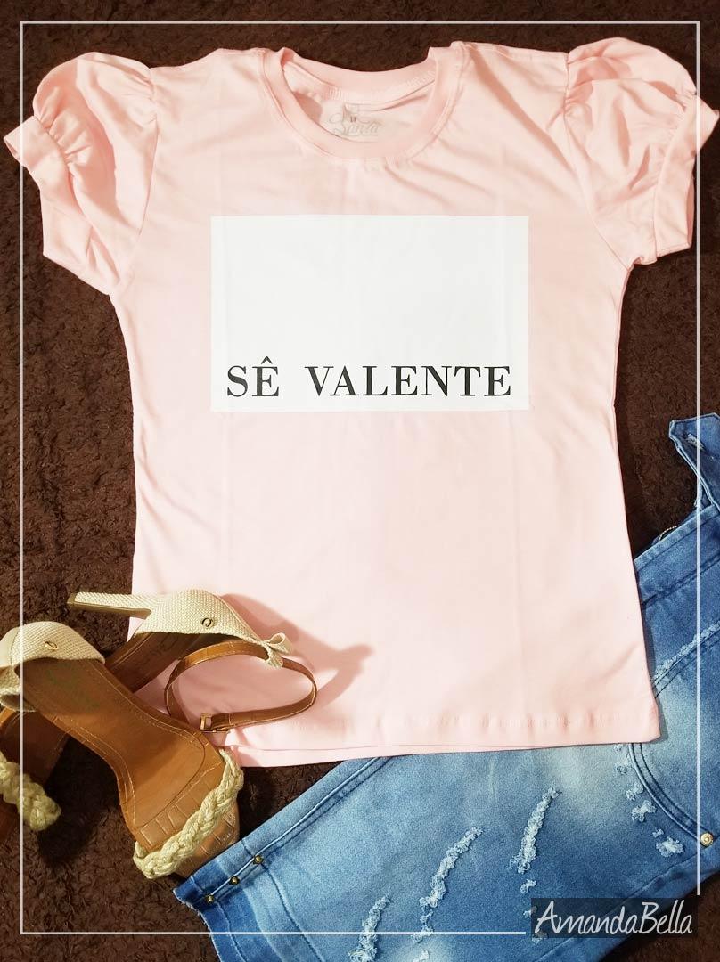 Blusa T-shirt  Sê Valente - AmandaBella
