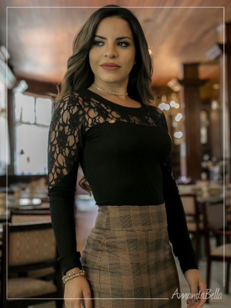d252dcfe1 Blusas Femininas Moda Evangelica com Detalhe em Renda