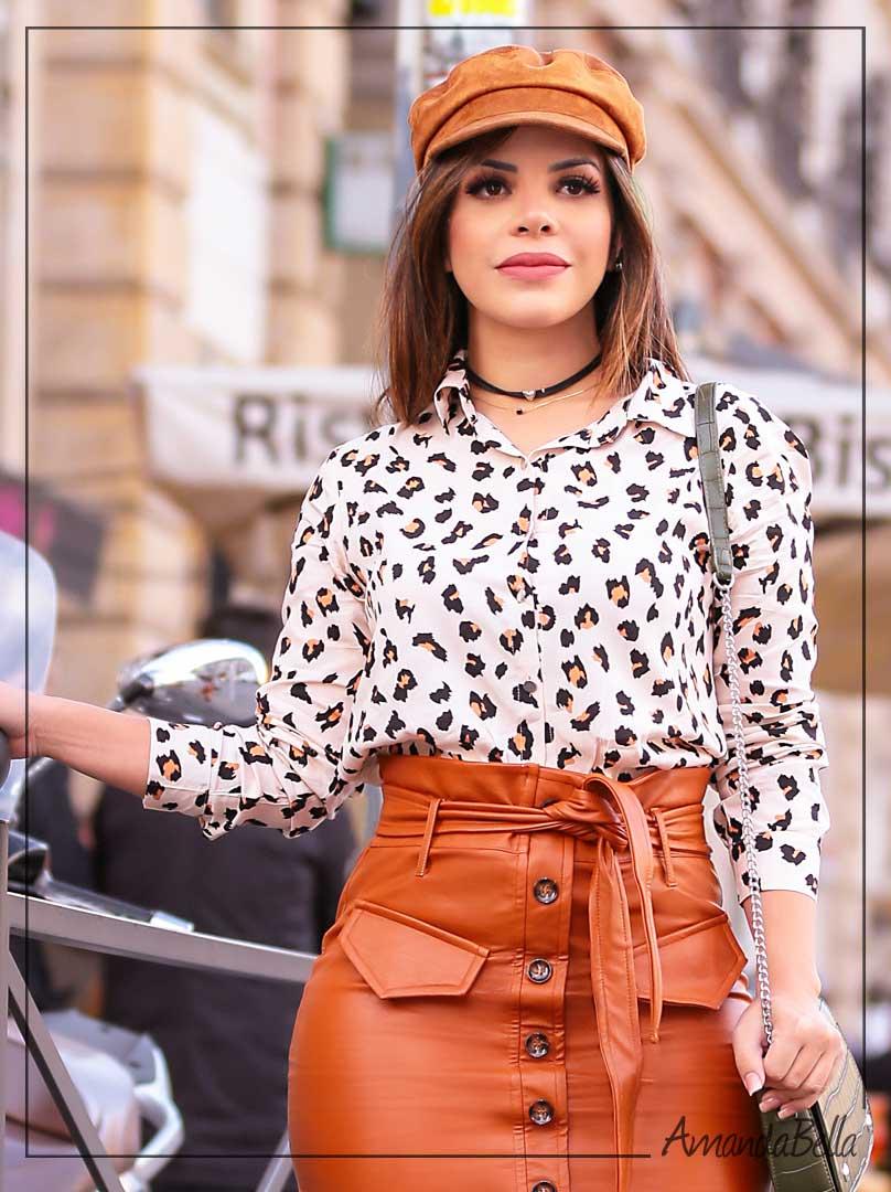 Camisa Milão Feminina Animal Print - Joyaly