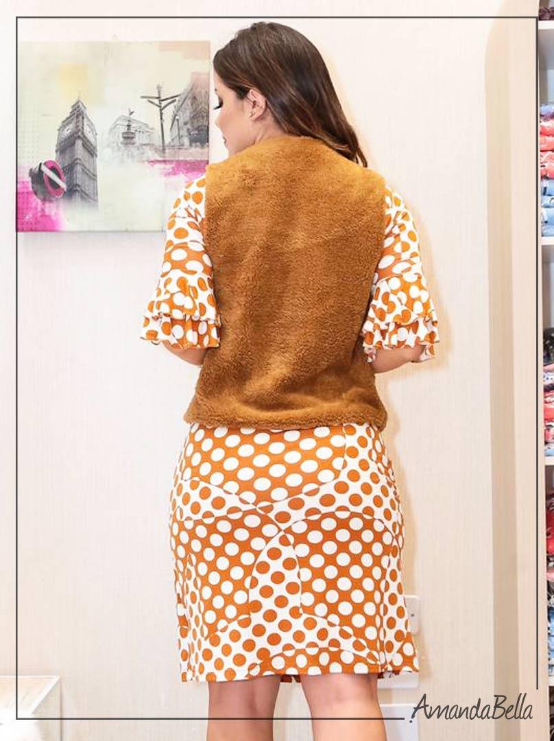 Colete de Pelo Caramelo - Boutique K