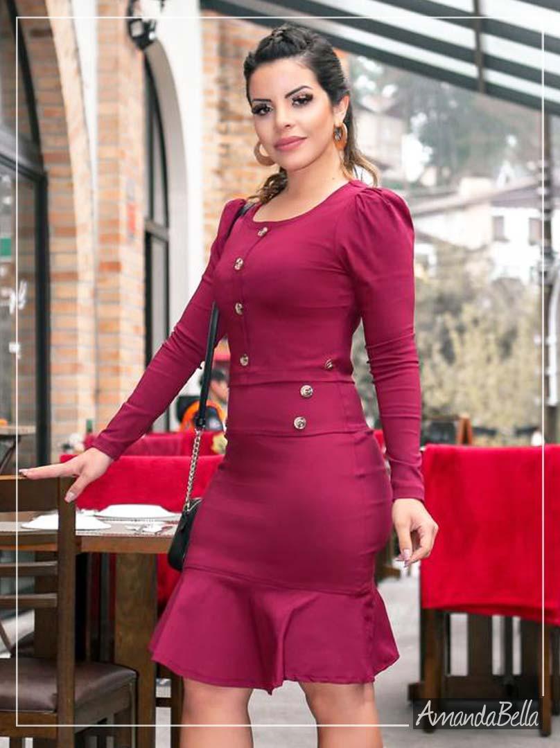 6be74512e Conjunto Feminino Marsala Moda Evangélica - Enncante