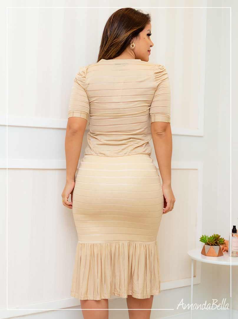 Vestido Esporte Fino Nude Chique- Boutique K