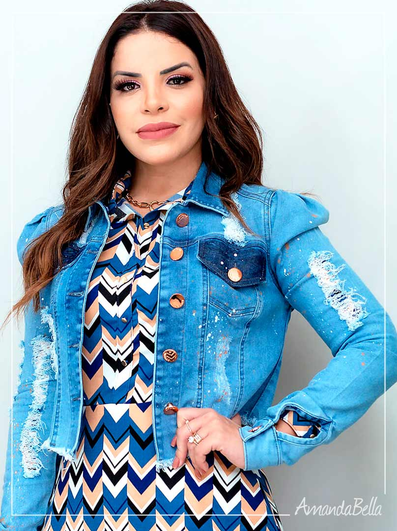 Jaqueta Jeans Destroyed Clara - Joyaly