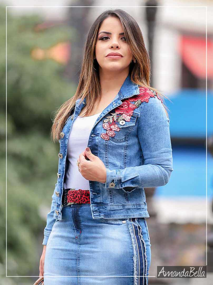 e251f542d5 Jaqueta Jeans Feminina Outono Inverno 2019