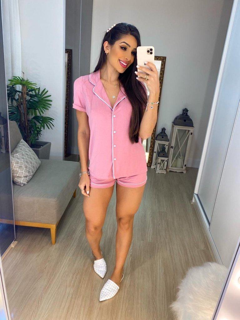Pijama Feminino Confort  Rosa - Amanda Bella