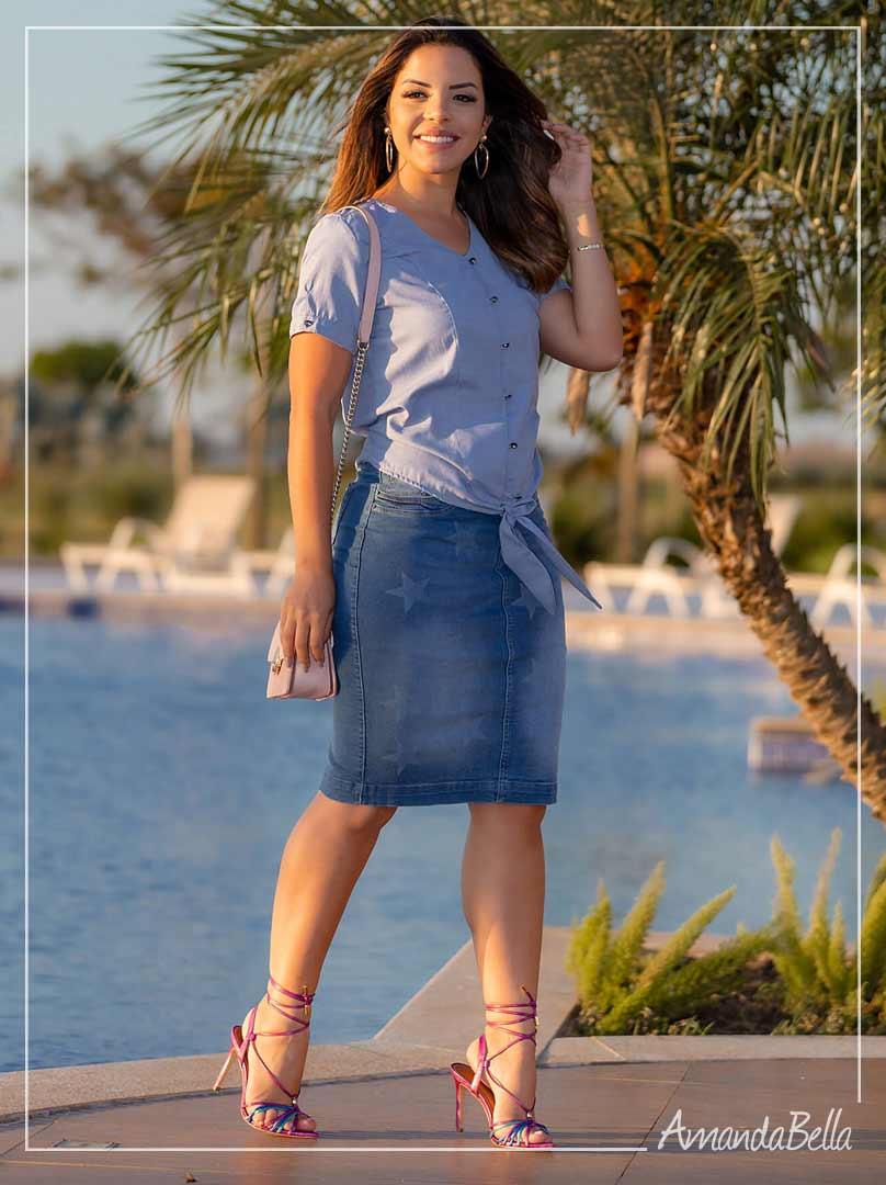 Saia Jeans Stars - Joyaly