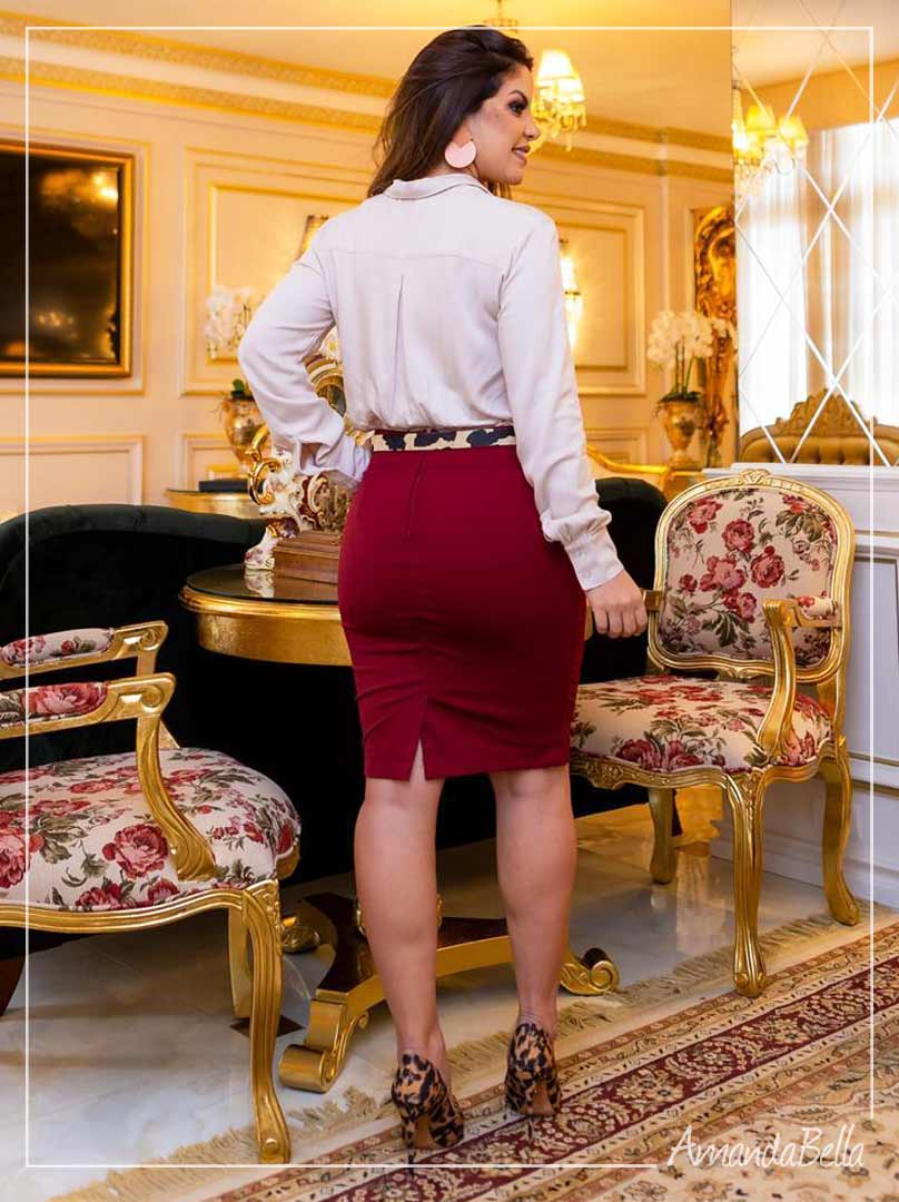 Saia Secretária Marsala  Premium - Boutique k