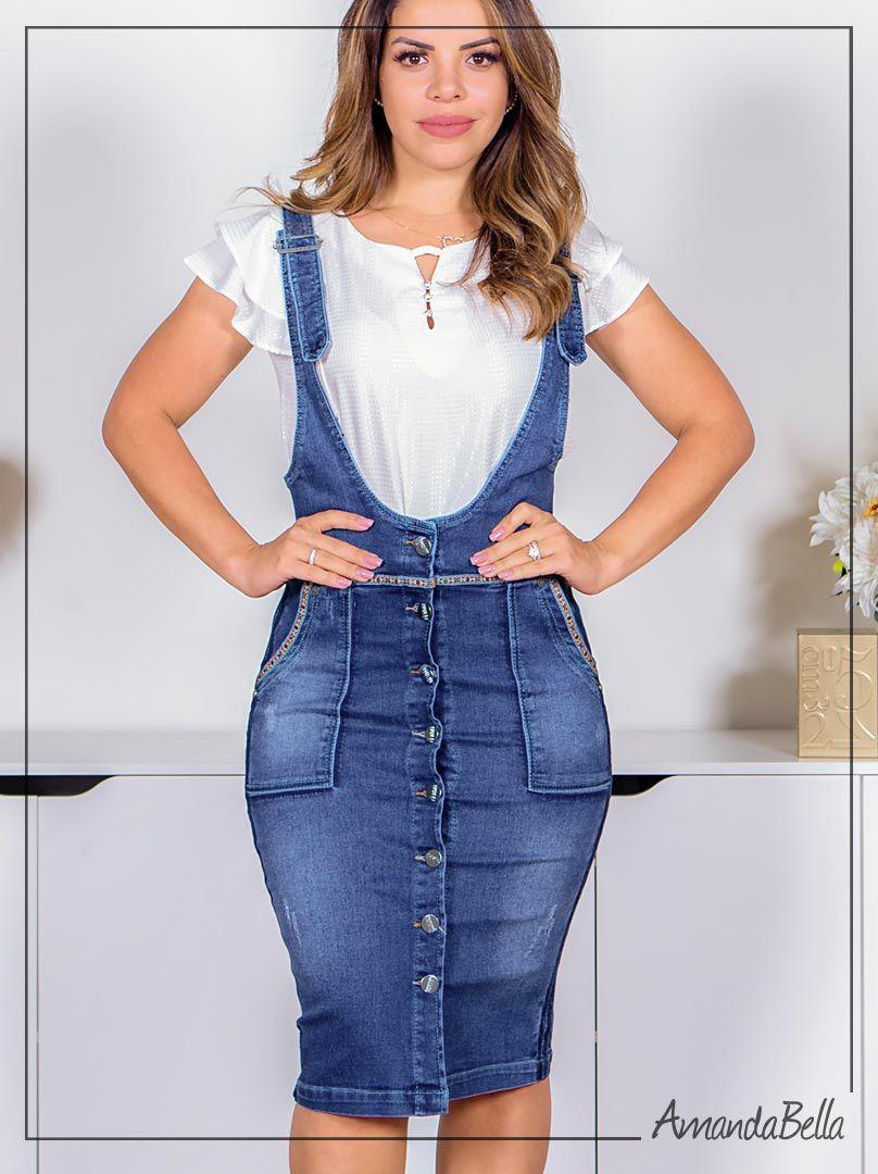Salopete Jeans Denin- Joyaly