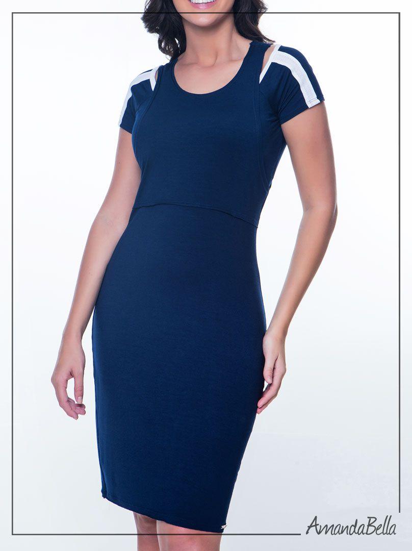 Vestido Basico Hapuk Azul Marinho