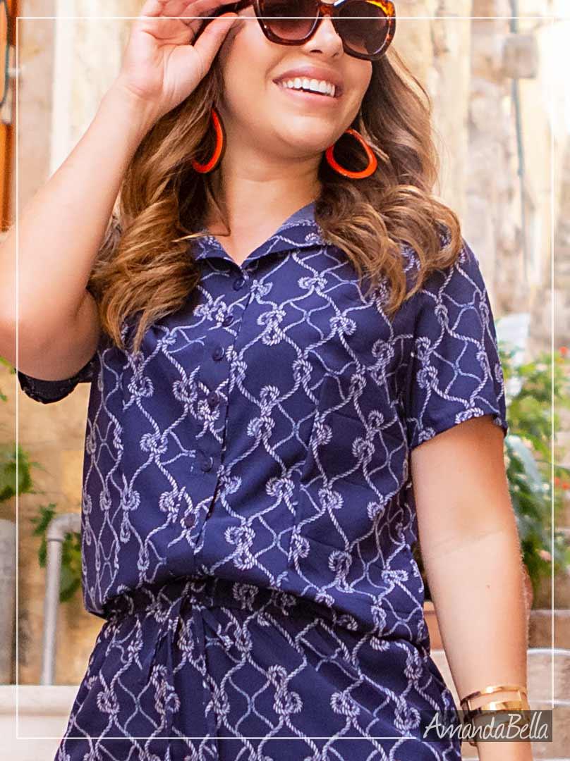 Vestido Chemise Estampado - Boutique K