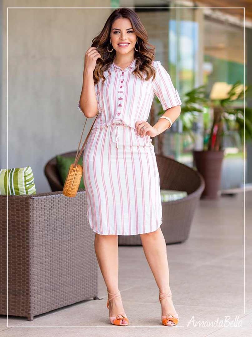 Vestido Chemise Executivo Trend - Boutique K