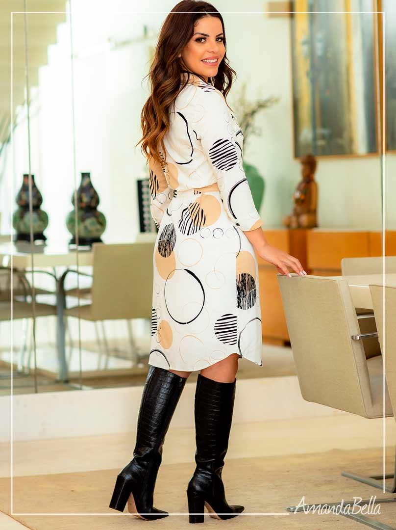 Vestido Chemise Off  - Boutique K