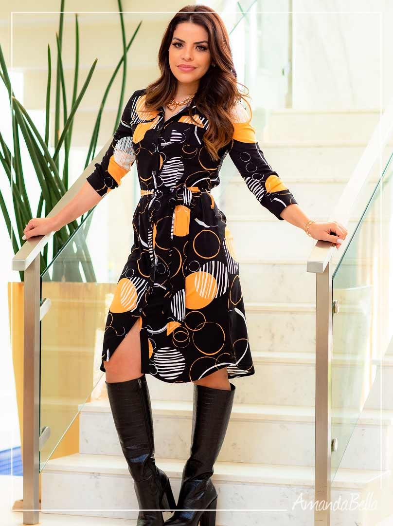 Vestido Chemise Preto - Boutique K