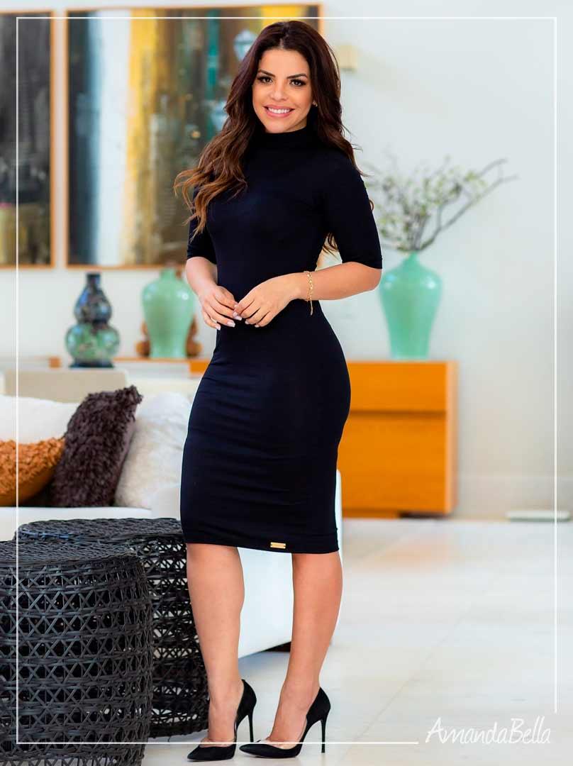 Vestido  Clássico Preto  - Boutique K
