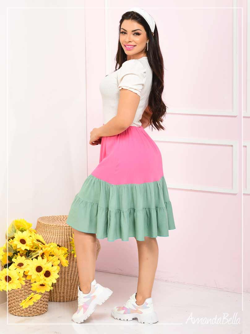 Vestido Color Block  Verão 2020 - Fm Fashion