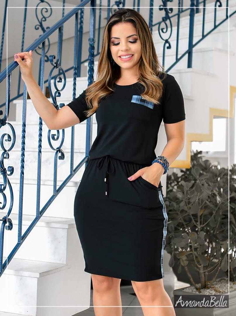 Vestido com Elástico na Cintura Esportivo - Boutique K