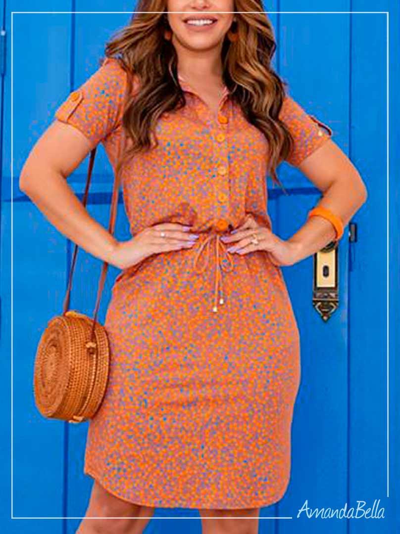 Vestido Confort em Malha Caramelo - Boutique K