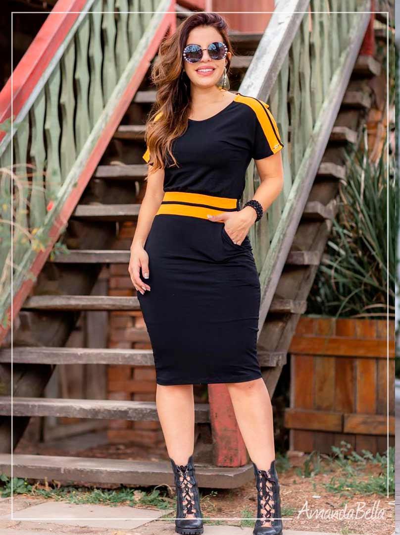 Vestido Confort Preto - Boutique K