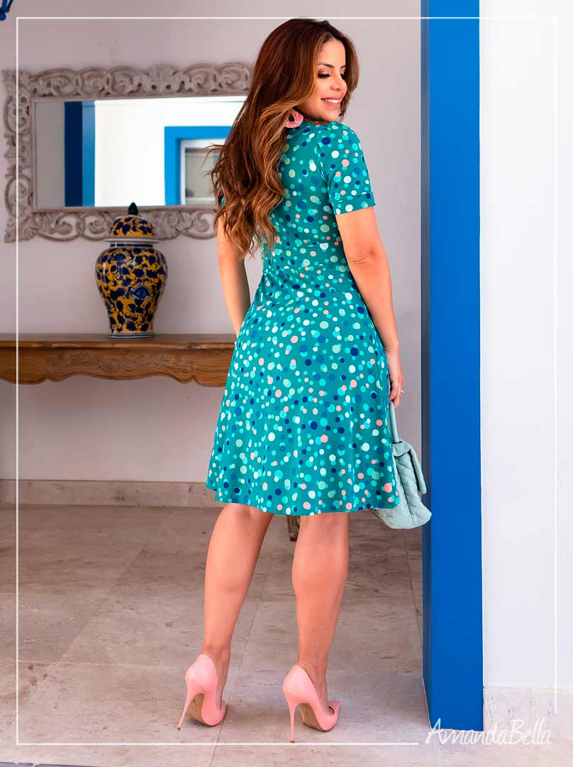 Vestido Disco Art Verde - Boutique K