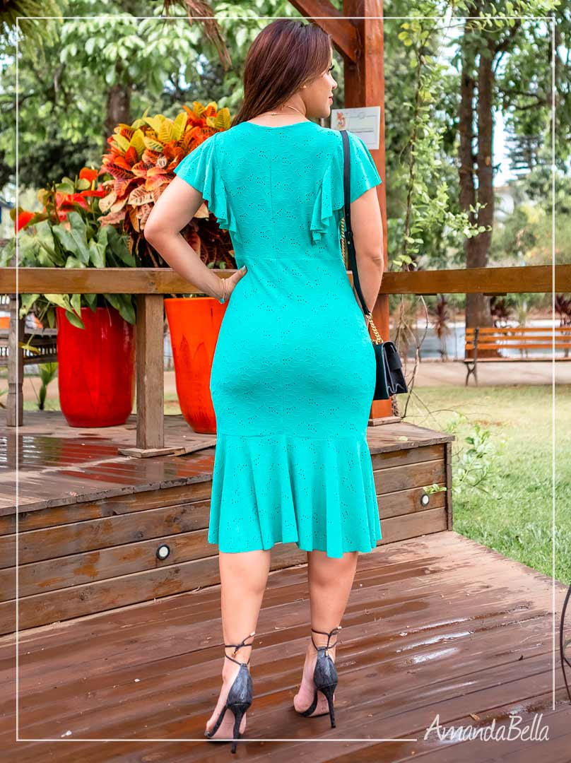 Vestido em Renda Premium Jade - Moda Feminina