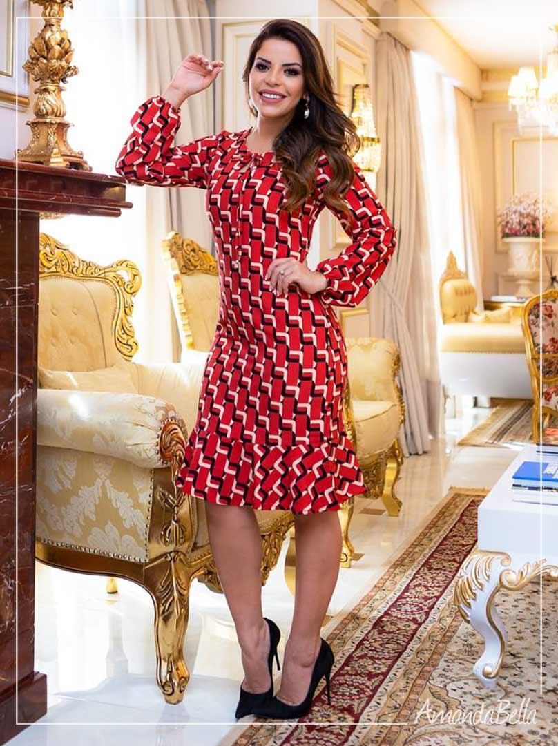 Vestido Executive Prime Vermelho - Boutique K