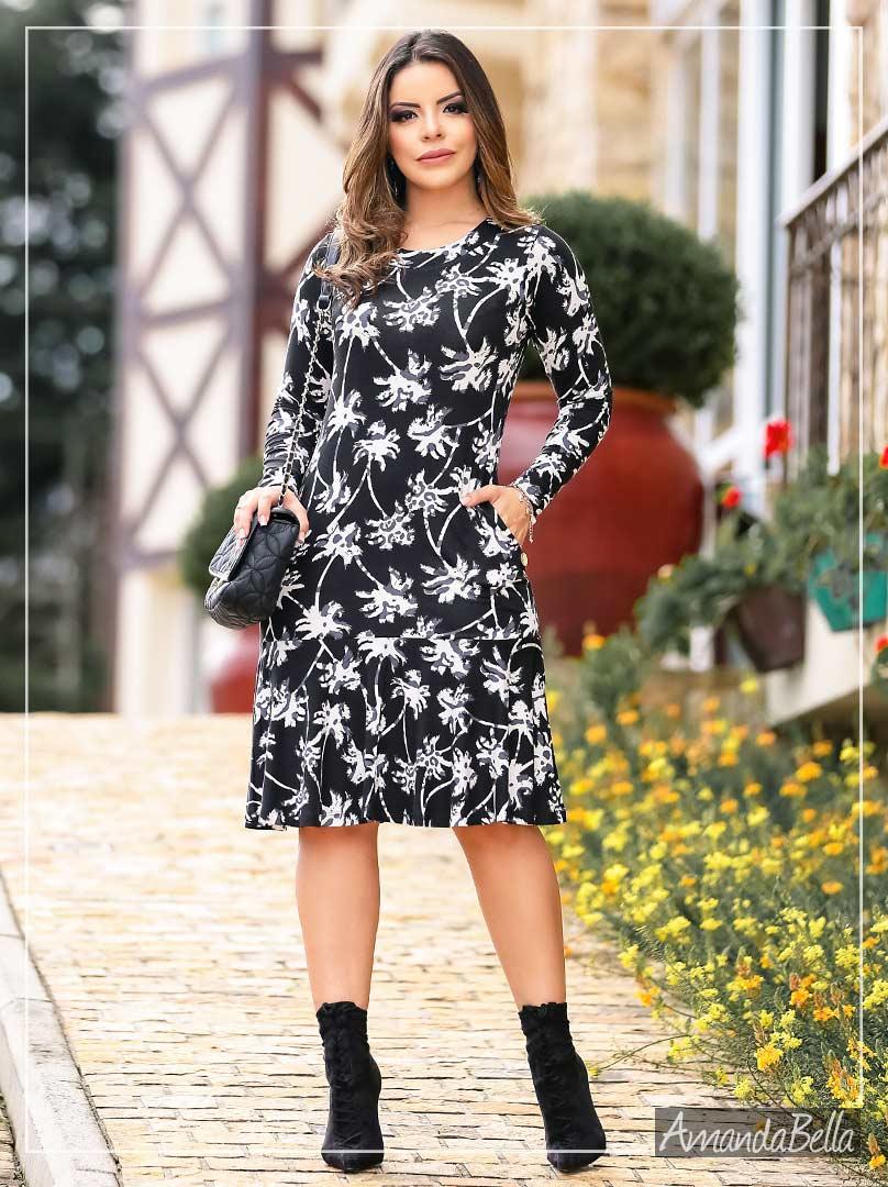 92c9906429fc Vestido Midi Godê - Moda Evangélica | AmandaBella