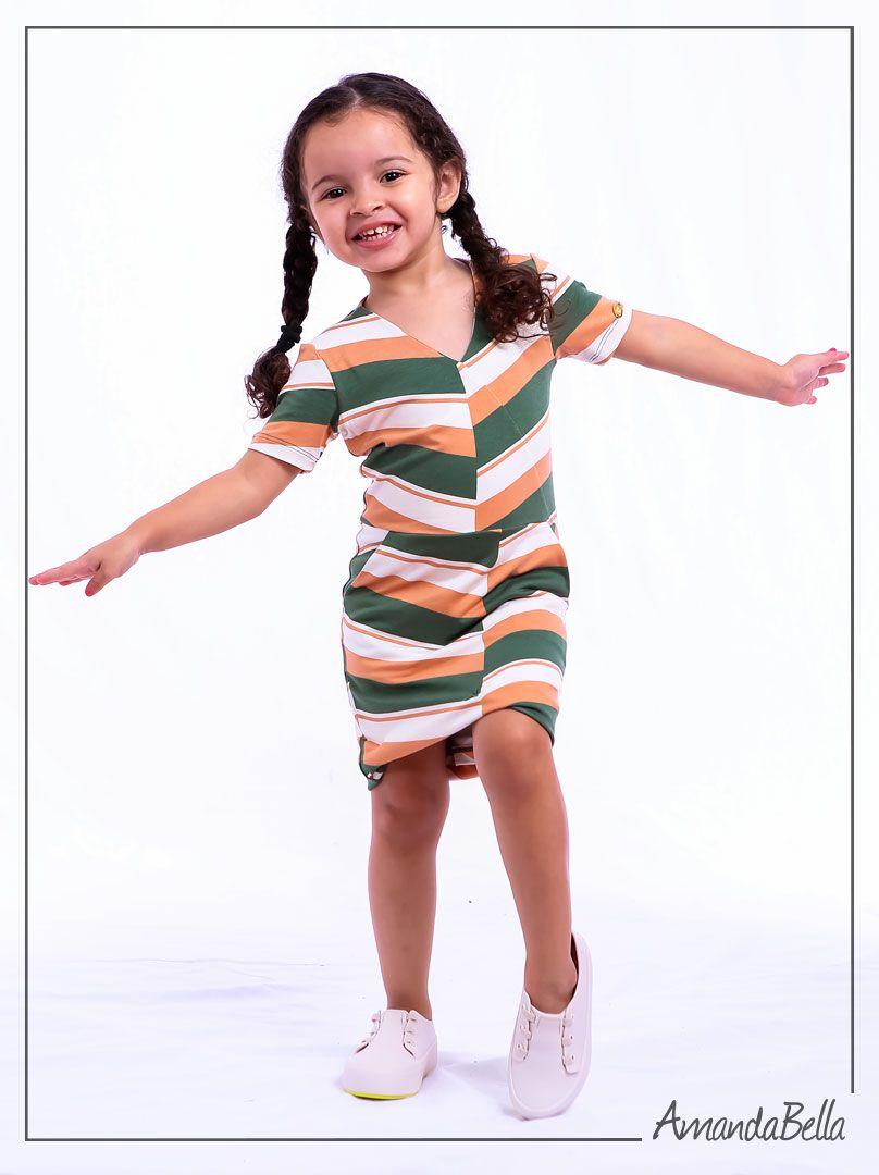 16fd4b94b75 Vestido Filha Estampado Assimétrico - Boutique K