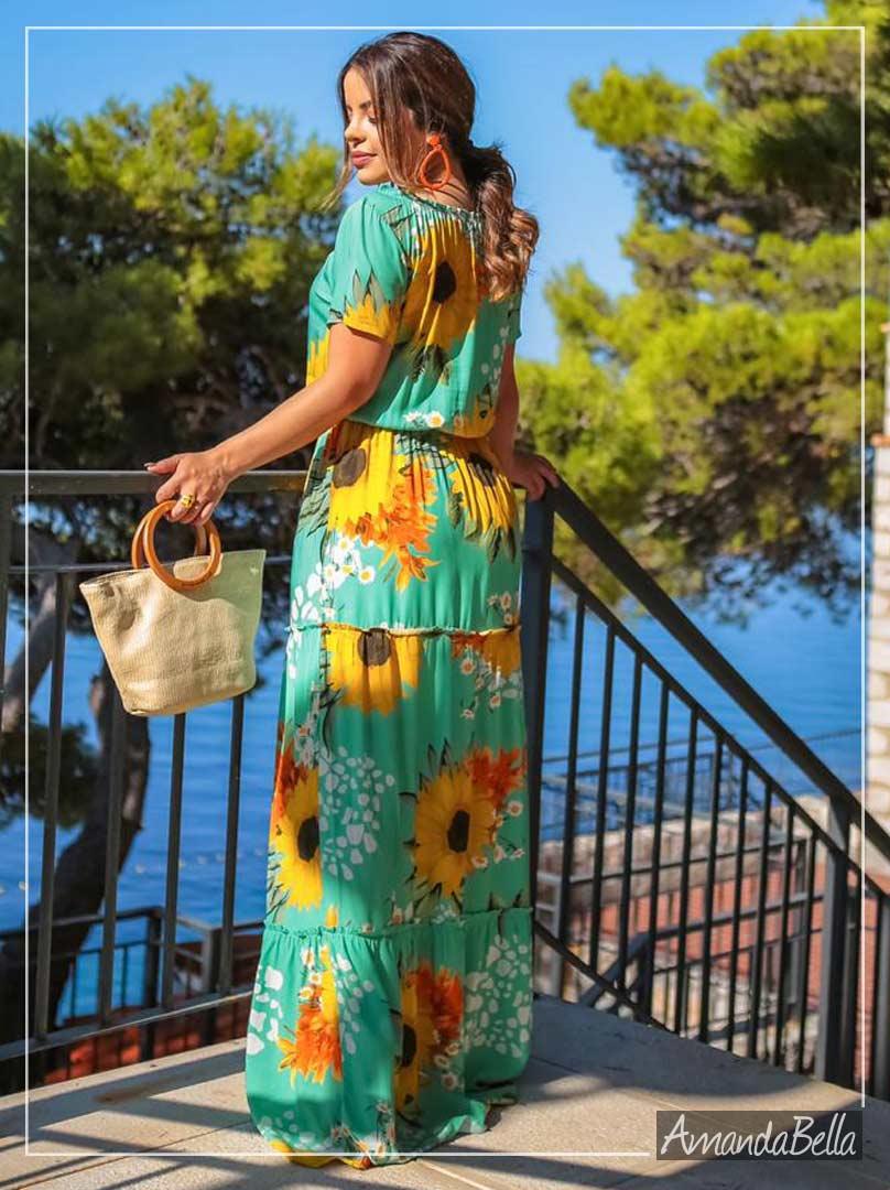 Vestido Florido Longo -Boutique K