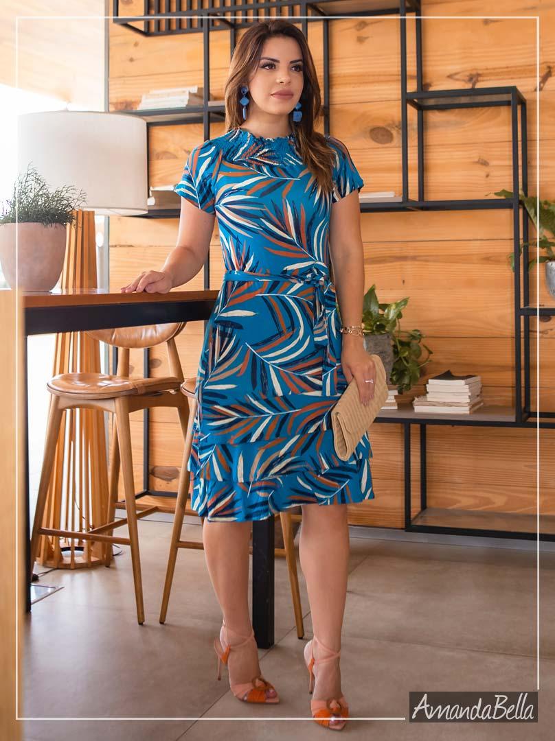 Vestido Fresquinho Estampado - Boutique K