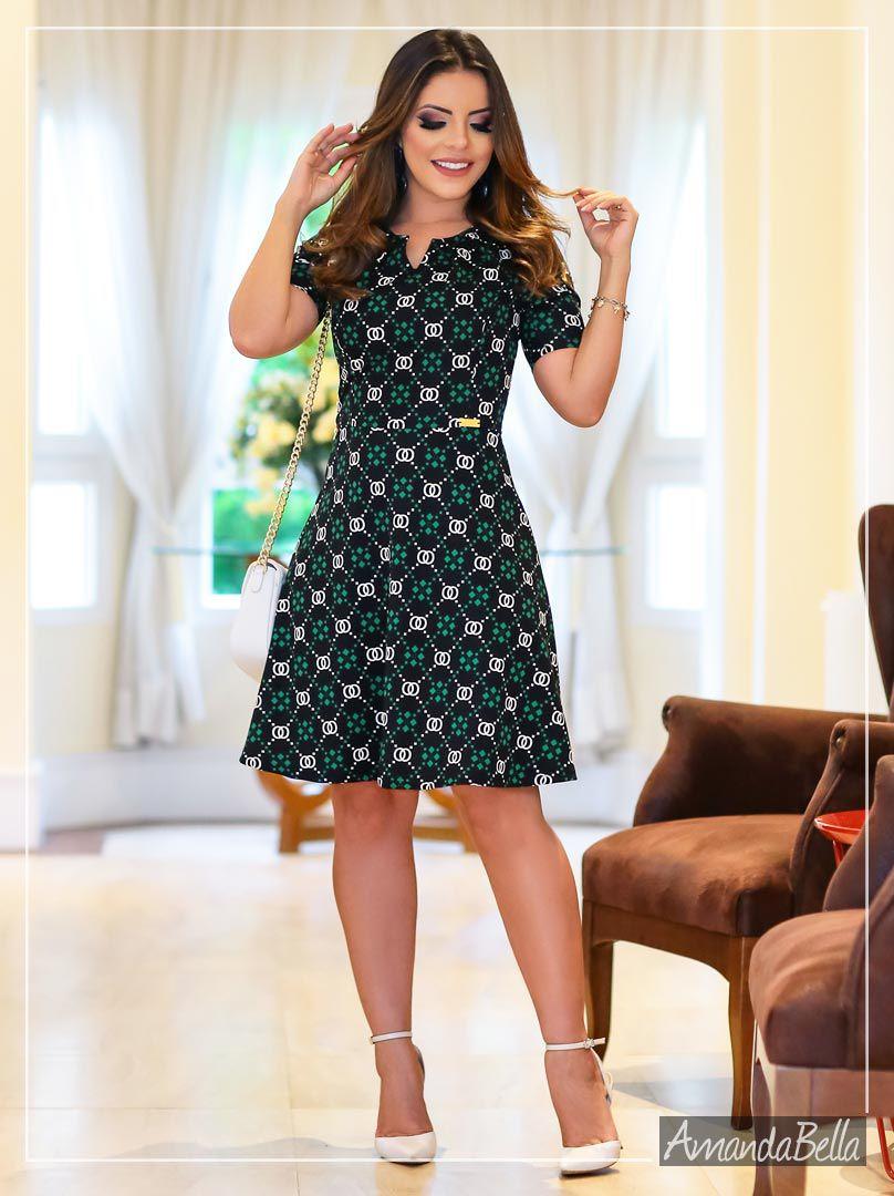 22d155529 Vestido Gode Executivo Inspiração Dior - Boutique K - Amanda Bella ...