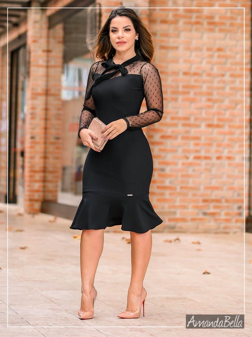 Vestido Habillè Elegance com Renda Soutache Premium