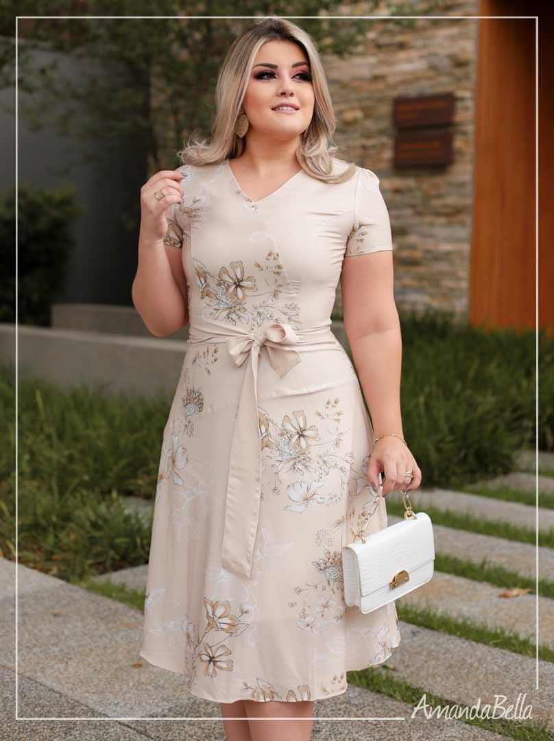 Vestido Lady like  com Laço  - Amanda Bella