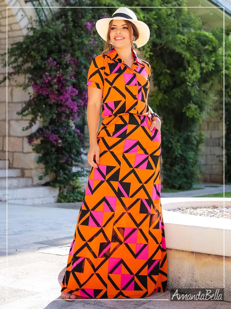 Vestido Longo Alto Verão 2020 l Boutique K