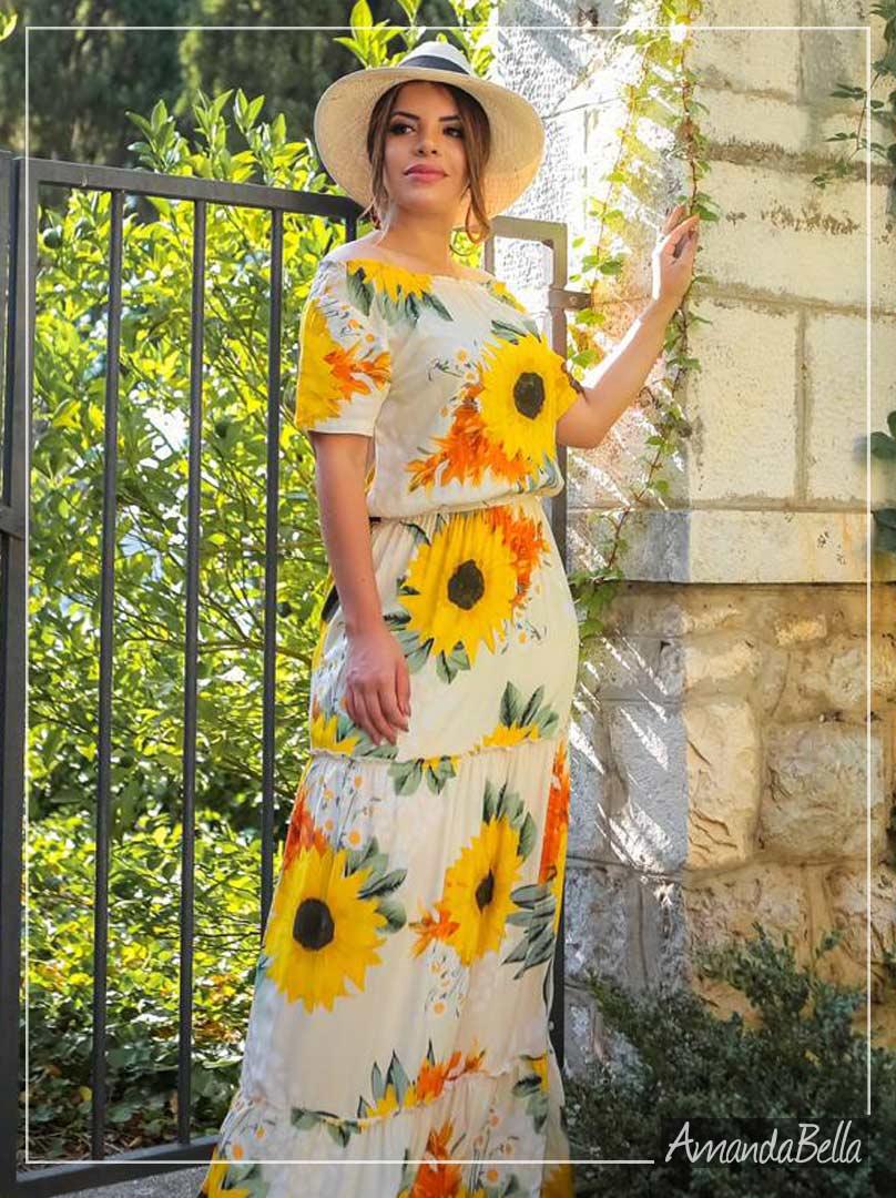 Vestido Longo Estampa Floral- Boutique K