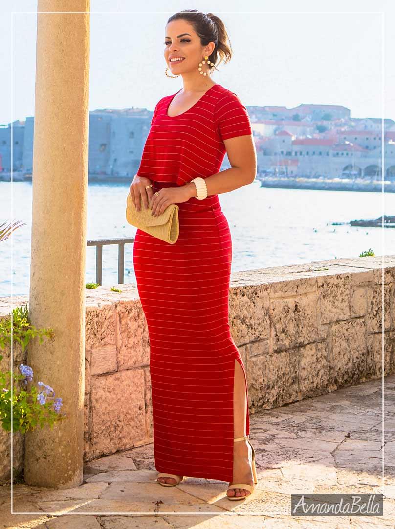 Vestido Longo Liz Estilo Cropped - Boutique K