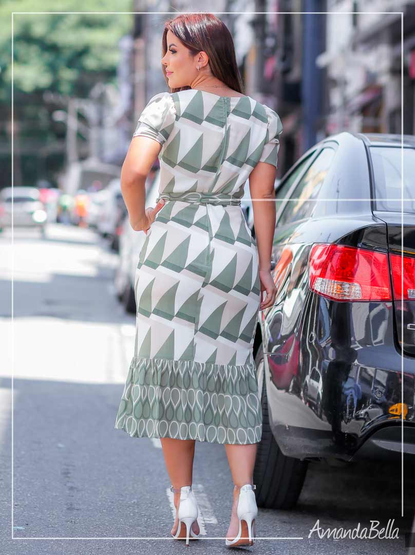 Vestido Mullet  Estampado Prime - Az Irmas