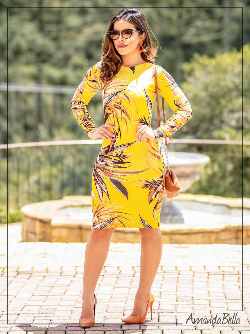 1290987116 Vestido Tubinho p  Festas na Amanda Bella Moda Evangélica
