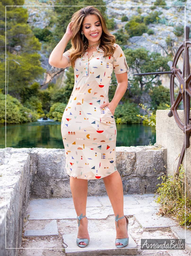 Vestido Polinho Primavera Verão 2020 - Boutique K