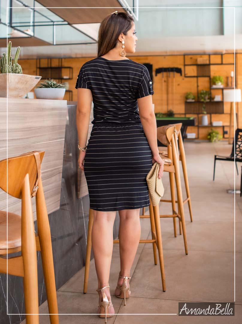 Vestido Preto em Malha Premium - Boutique K