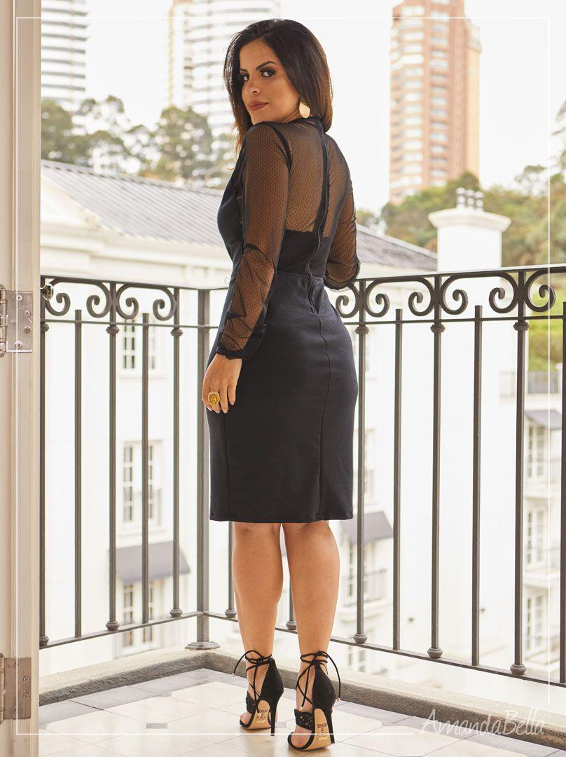 Vestido Preto Tubinho Glorious | Moda Evangélica