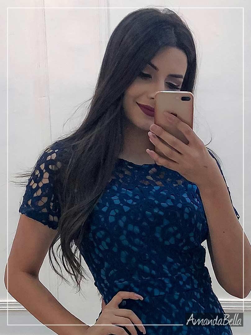 Vestido Renda Guipir Elegancê - Az Irmas