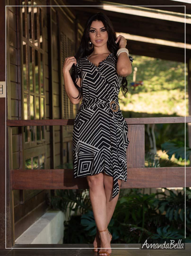 Vestido Soltinho em Listras - Fm Fashion