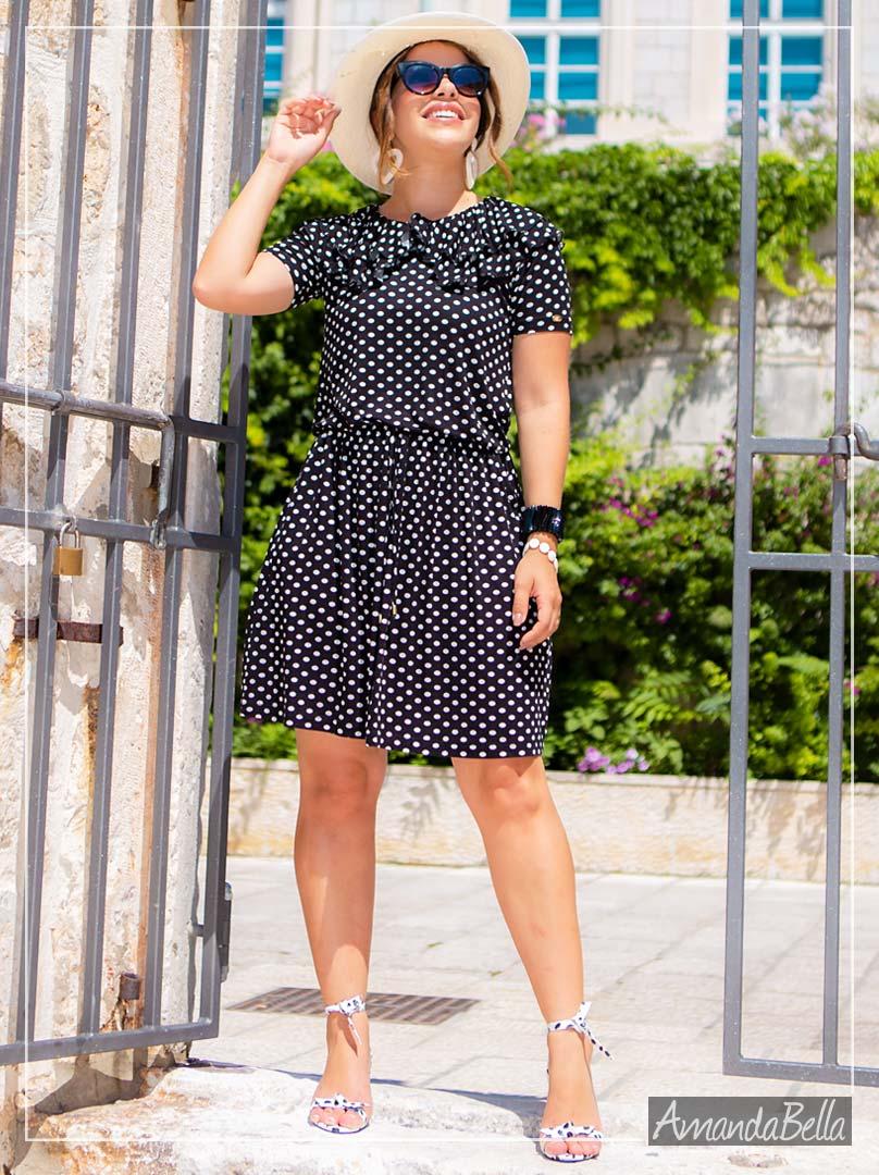 Vestido Soltinho Poá 2020 - Boutique K