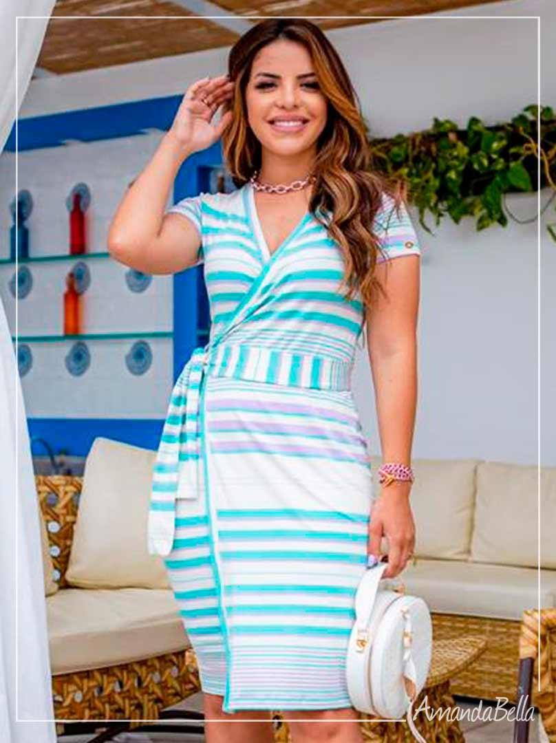 Vestido Transpassado  Verão 2021  - Boutique K