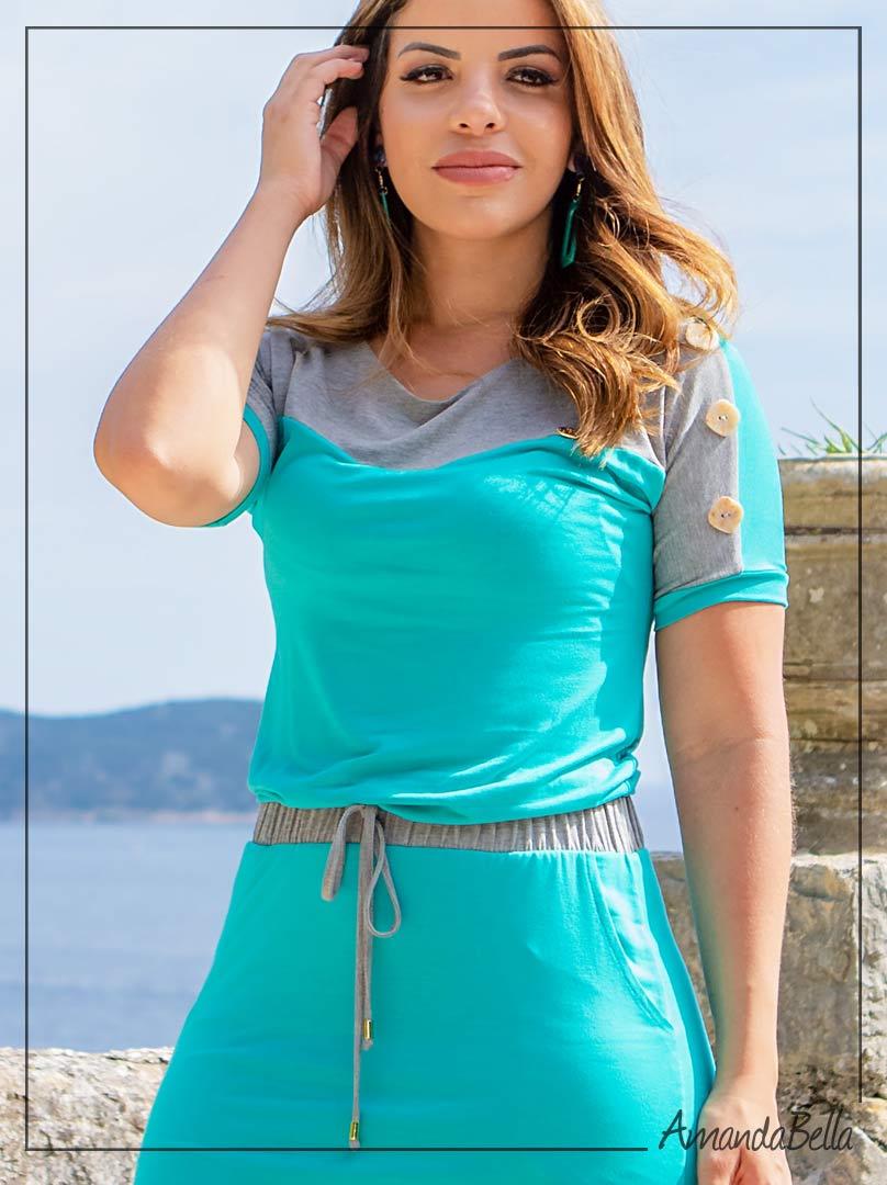Vestido Tubinho com Elástico na Cintura - Boutique K