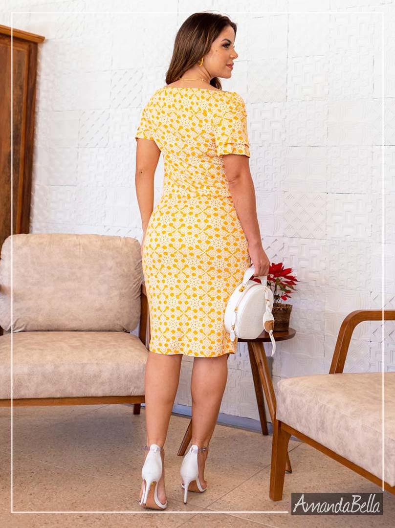 Vestido Tubinho com Elástico no Ombro - Boutique K