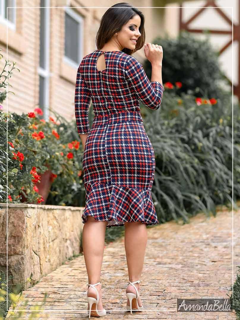 Vestido Tubinho em Ponto Roma Estampado - Boutique K