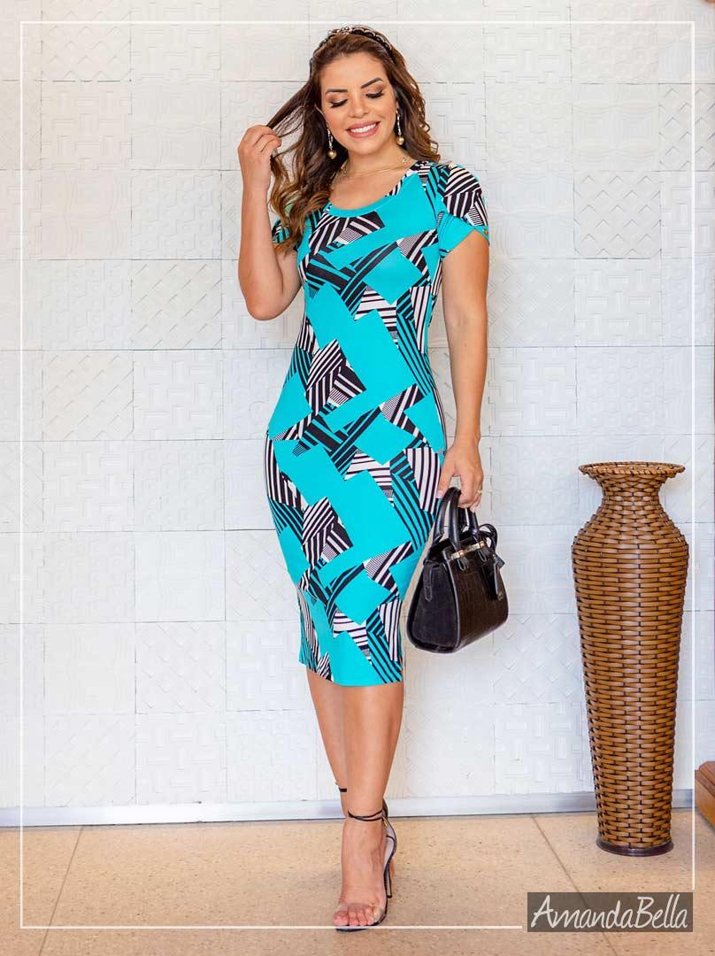 Vestido Tubinho Estampa Artis - Boutique K