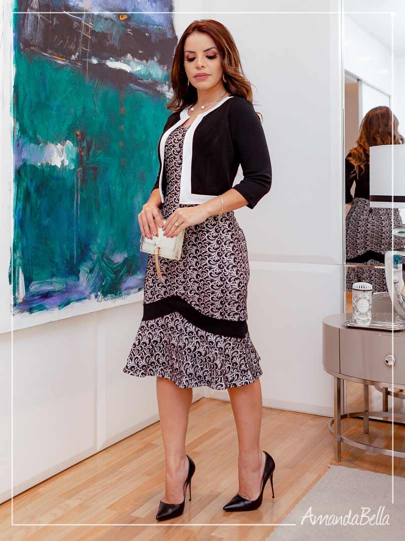 Vestido Tubinho Executivo   - Amanda Bella