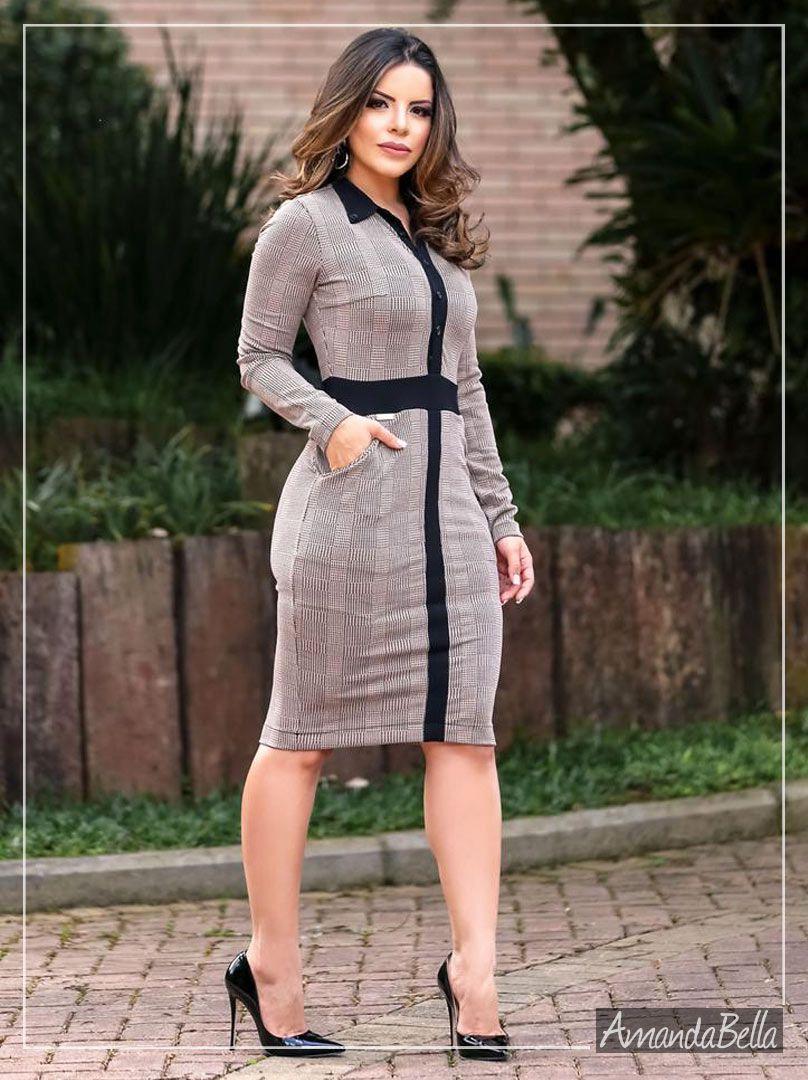 3cab8a76d Vestido Tubinho Simétrico em Jacquard Moda Evangélica - Boutique K